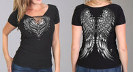 SS CUT OUT ORNATE ANGEL WINGS - SEXY NECK LINE