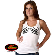 LADIES TOP BLACK SKELETON HANDS