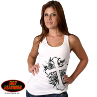 TOP TANK CROSS & ROSES