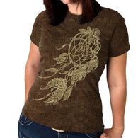 SS SAND WASHED WINDY DREAMCATCHER - FULL CUT LADY T-SHIRT
