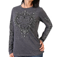 SILVER HEART LADIES LIGHTWEIGHT FULL CUT LONG SLEEVE