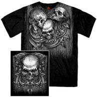 OVER THE SHOULDER SKULL SHORT SLEEVE T-SHIRT