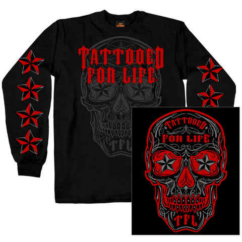 DOUBLE SIDED DAY OF DEAD - LONG-SLEEVE MEN SHIRT