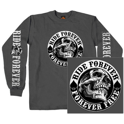 DOUBLE SIDED SPADE SKULL - LONGSLEEVE MEN SHIRT