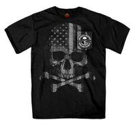 PATRIOTIC SKULL POCKET SHORT SLEEVE T-SHIRT