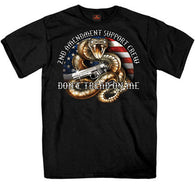 2ND AMENDMENT RATTLER T-SHIRT - SHORTSLEEVE MEN T-SHIRTS
