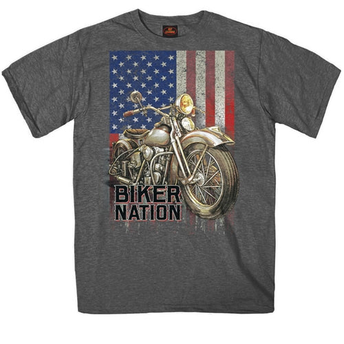 CLASSIC CYCLE FLAG T-SHIRT - SHORTSLEEVE MEN T-SHIRTS