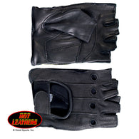 FINGERLESS GLOVES - DEERSKIN LEATHER WITH ANTI-VIBRATION PAD