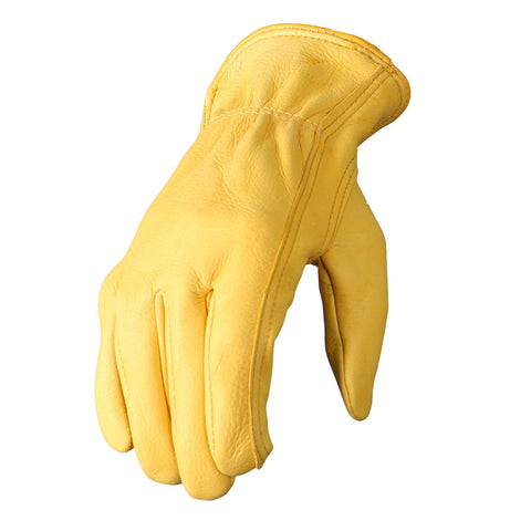 DEERSKIN LEATHER DRIVER GLOVES - GOLD
