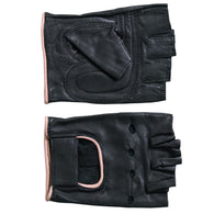 FINGERLESS BLACK & PINK GLOVES