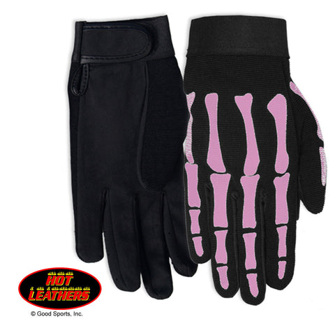 MECHANIC GLOVES - PINK SKELETON