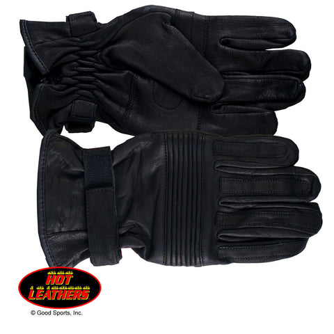 RIBBED KNUCKLE GLOVES - LEATHER