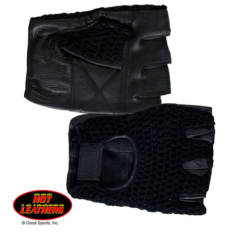 BLACK MESH FINGRLESS GLOVE