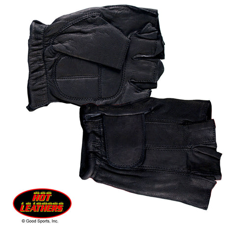 GEL PALM FINGERLESS LEATHER GLOVES