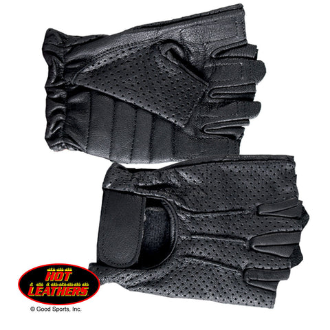 VENTED FINGERLESS LEATHER GLOVE