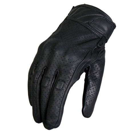 VENTED KNUCKLE GUARD GLOVE - LEATHER