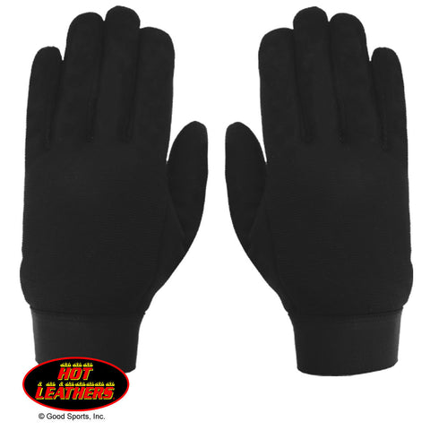 MECHANIC PLAIN GLOVES - BLACK