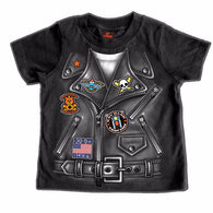 LEATHER JACKET BOYS- TODDLER COTTON SS T-SHIRT