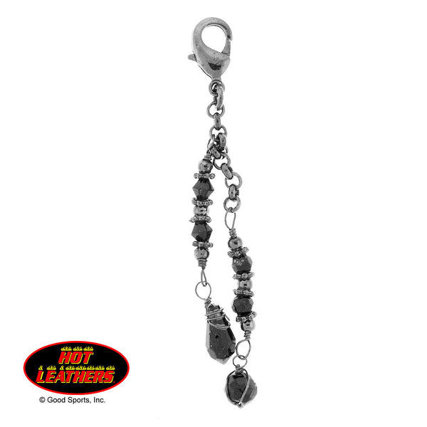 CHARM GUNMETAL & BLACK BEADS