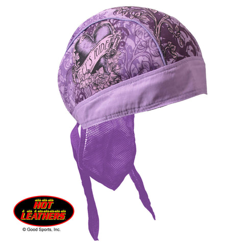 HEAD WEAR STAINED HEART PURPLE