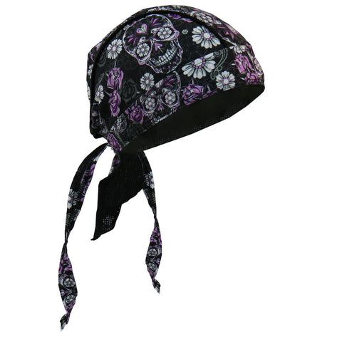 HEADWRAP SUGAR SKULL