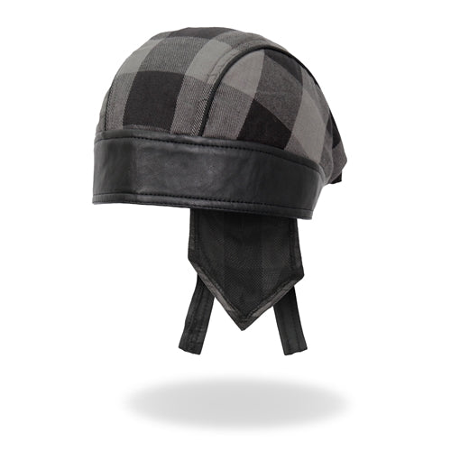 HEAD WRAP GREY BUFFALO PLAID