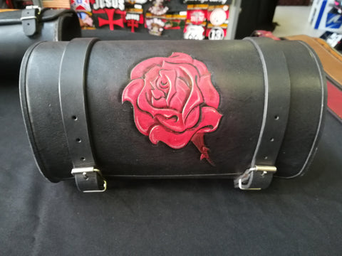 Copy of CUSTOM TOOL BAG - RED ROSE- LEATHER