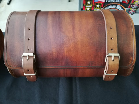 CUSTOM TOOL BAG - PLAIN BROWN LEATHER