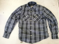 METALIZE FLANNEL SHIRT GREY - BLACK