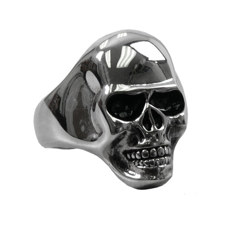 RING SMOOTH SKULL - 316L stainless steel ring