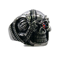 RING EYE PATCH SKULL - 316L stainless steel