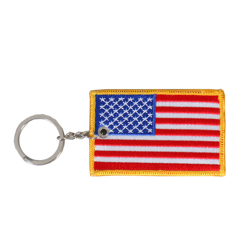 KEY CHAIN PATCH AMERICAN FLAG