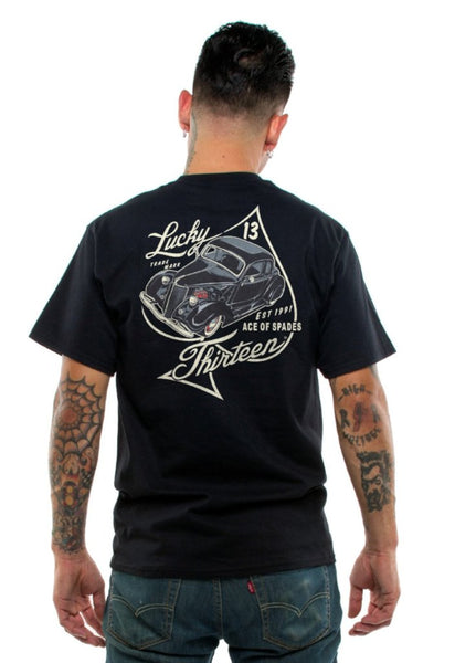 SS BP ACE OF SPADES / LUCKY 13 SINCE 1991 / SHORT-SLEEVE MEN T-SHIRT