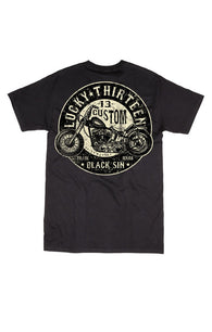 SS BP BLACK SIN - LUCKY 13 SINCE 1991 - SHORT-SLEEVE MEN T-SHIRT