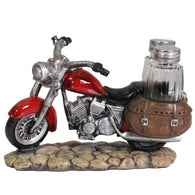 SALT&PEPPER SHAKER RED BIKE - CERAMIC