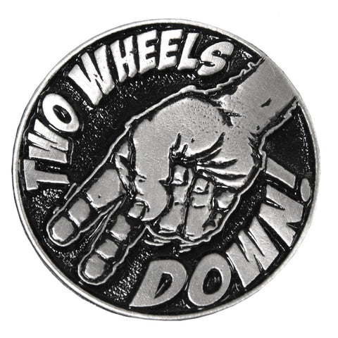 PIN TWO WHEELS DOWN