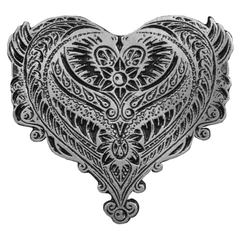 PIN ORNATE ANGEL WINGS HEART