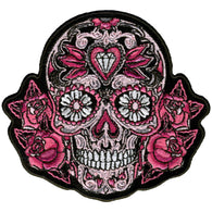 PATCH PINK SUGAR SKULL AND ROSES