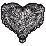 PATCH ORNATE HEART 4""