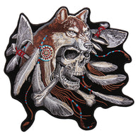 WOLF SKULL PATCH
