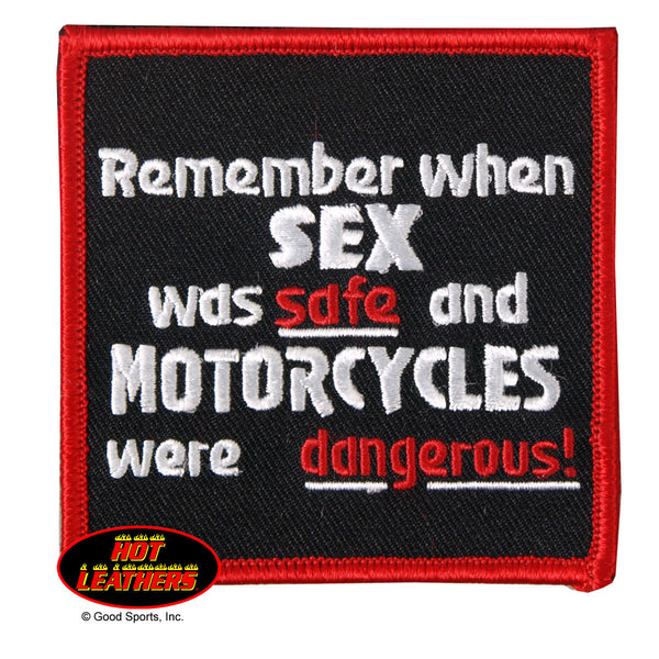 REMEMBER WHEN SEX WAS SAFE? PATCH