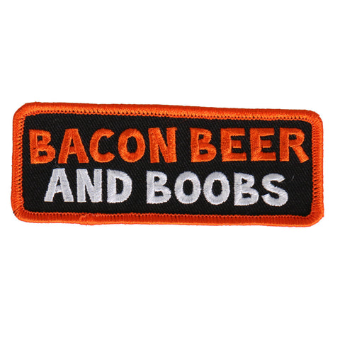 PATCH BACON BEER AND BOOBS