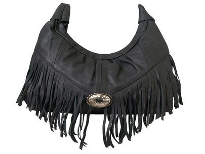 PURSE WITH FRINGE & CONCHO