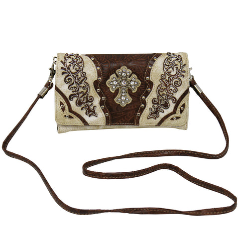 WRIST PURSE  - CROSS BEIGE - LEATHER