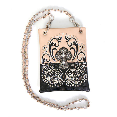 PURSE CROSS FILIGREE BEIGE