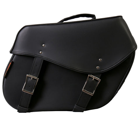 SADDLE BAG LG PVC WIDE 2 BKL