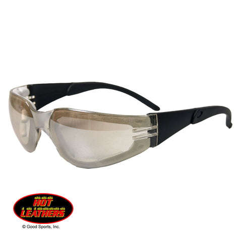 RIDER PADDED - FLASH MIRRORED CLEAR LENS SUNGLASSES - UV400