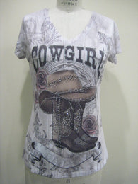COWGIRL VINTAGE - DYE SUBLIMATION T-SHIRT - MADE IN USA