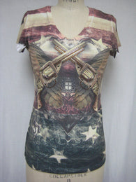 AMERICAN PISTOL - DYE SUBLIMATION T-SHIRT - MADE IN USA