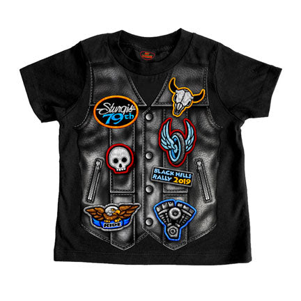 LEATHER VEST OFFICIAL STURGIS 2019  BOYS - TODDLER COTTON SS T-SHIRT